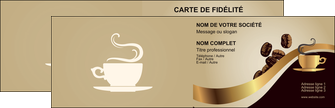Exemple faire carte de visite double 2 volets pour bar et café
