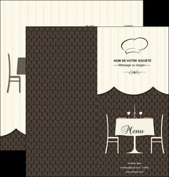 personnaliser maquette depliant 2 volets  4 pages  restaurant restaurant restauration restaurateur MIF19207