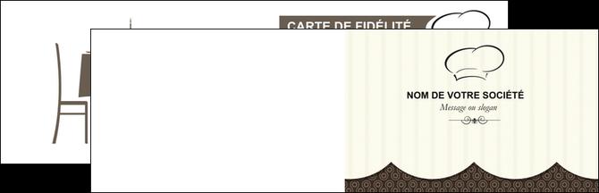 faire modele a imprimer carte de visite restaurant restaurant restauration restaurateur MIF19213