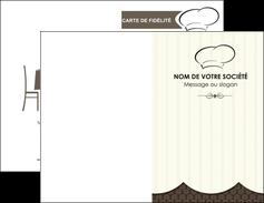 maquette en ligne a personnaliser carte de visite restaurant restaurant restauration restaurateur MIF19215