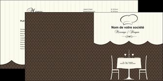 faire modele a imprimer depliant 2 volets  4 pages  restaurant restaurant restauration restaurateur MIF19217