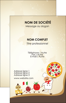 Impression carte de fidelité pizza