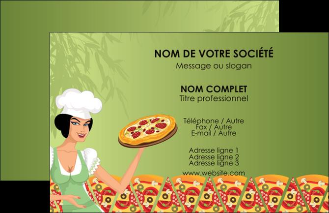 Imprimerie Carte De Visite Pizzeria Et Restaurant Italien Pizza Portions Plateau MLGI19325