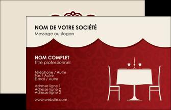Modele Exemples Maquette Graphique Carte De Visite Restaurant A Personnaliser