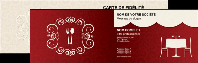 Cree Carte De Visite Metiers La Cuisine Restaurant Restauration Pictogramme Pour MLGI19443
