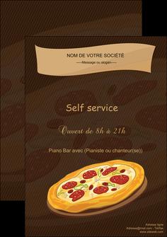 personnaliser maquette affiche pizzeria et restaurant italien pizza plateau plateau de pizza MLGI19485