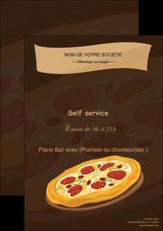 exemple affiche pizzeria et restaurant italien pizza plateau plateau de pizza MLGI19487