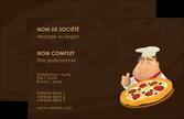personnaliser maquette carte de visite pizzeria et restaurant italien pizza plateau plateau de pizza MLGI19489