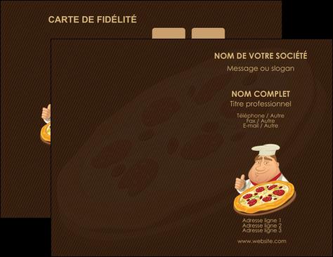 maquette en ligne a personnaliser carte de visite pizzeria et restaurant italien pizza plateau plateau de pizza MLGI19493