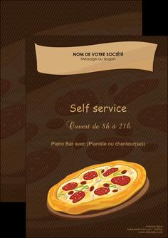 modele flyers pizzeria et restaurant italien pizza plateau plateau de pizza MLGI19501
