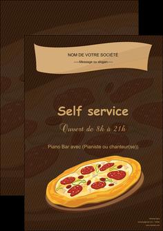creer modele en ligne affiche pizzeria et restaurant italien pizza plateau plateau de pizza MLGI19503