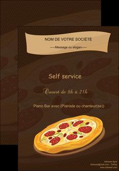 exemple affiche pizzeria et restaurant italien pizza plateau plateau de pizza MLGI19505
