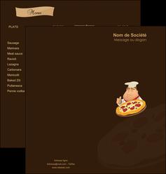 faire modele a imprimer depliant 2 volets  4 pages  pizzeria et restaurant italien pizza plateau plateau de pizza MLGI19507