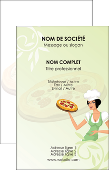 modele carte de visite pizzeria et restaurant italien pizza plateau plateau de pizza MLGI19769