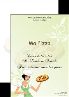 exemple affiche pizzeria et restaurant italien pizza plateau plateau de pizza MLGI19781