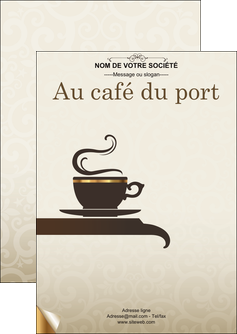 modele en ligne flyers bar et cafe et pub salon de the buvette brasserie MLGI19785