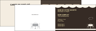 personnaliser modele de carte de visite restaurant restaurant restauration table de restaurant MLGI19833