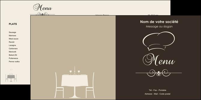 Populaire Dépliant 2 volets (4 pages) modèle et exemple restaurant  XD83