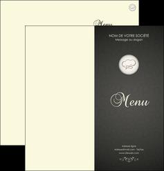 imprimer depliant 2 volets  4 pages  restaurant restaurant restaurant du monde restaurant francais MLGI19899