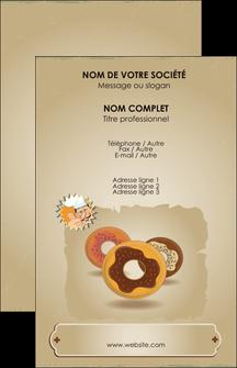 Modele Carte De Visite Creperie Et Glacier Donut Aux Chocolats Patisserie MLGI20101
