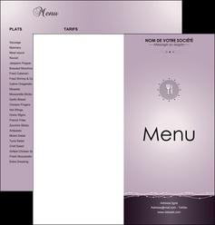 Dépliant menu restaurant 4 pages