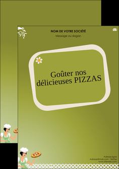 modele flyers pizzeria et restaurant italien pizza plateau plateau de pizza MLGI20267