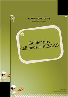 imprimer flyers pizzeria et restaurant italien pizza plateau plateau de pizza MLGI20279