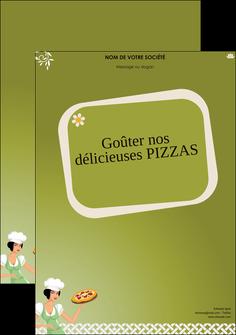 personnaliser modele de affiche pizzeria et restaurant italien pizza plateau plateau de pizza MLGI20281