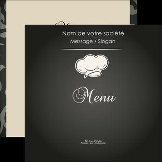 personnaliser maquette flyers restaurant restaurant restauration restaurateur MLGI20317