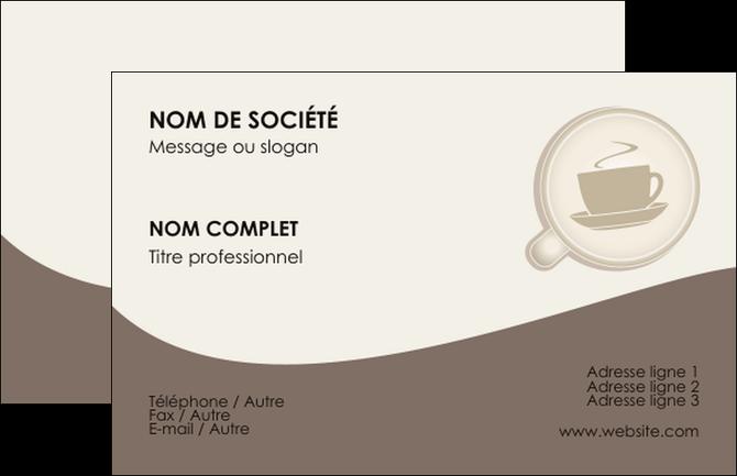 Modele Carte De Visite Bar Et Cafe Pub Salon The Chaud MLGI20333