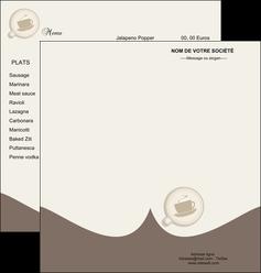 maquette en ligne a personnaliser depliant 2 volets  4 pages  bar et cafe et pub cafe salon de the cafe chaud MLGI20343