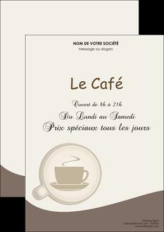 maquette en ligne a personnaliser flyers bar et cafe et pub cafe salon de the cafe chaud MLGI20349