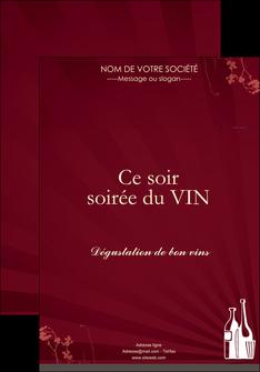 realiser affiche vin commerce et producteur vin bouteille de vin verres de vin MLIG20357
