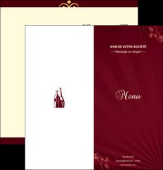 imprimer depliant 2 volets  4 pages  vin commerce et producteur vin bouteille de vin verres de vin MLIG20359