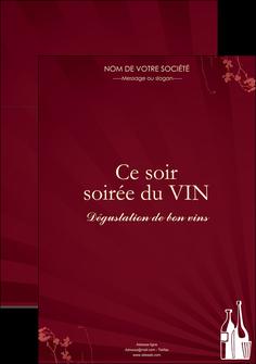 maquette en ligne a personnaliser affiche vin commerce et producteur vin bouteille de vin verres de vin MLIG20361