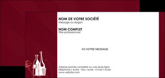impression carte de correspondance vin commerce et producteur vin bouteille de vin verres de vin MLIG20371