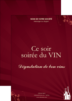 creer modele en ligne flyers vin commerce et producteur vin bouteille de vin verres de vin MLIG20375