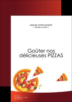 personnaliser modele de affiche pizzeria et restaurant italien pizza pizzeria service pizza MLGI20377