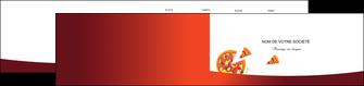personnaliser modele de depliant 2 volets  4 pages  pizzeria et restaurant italien pizza pizzeria service pizza MLGI20383