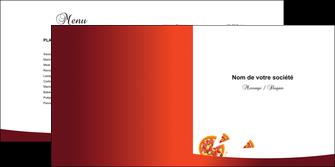 faire depliant 2 volets  4 pages  pizzeria et restaurant italien pizza pizzeria service pizza MLGI20393