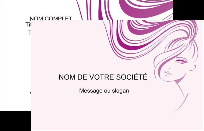 Maquette En Ligne A Personnaliser Carte De Visite Institut Beaute Cheveux Soin Des Coiffure
