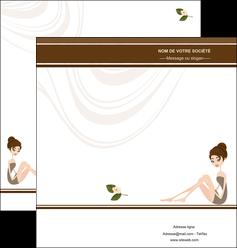 personnaliser modele de depliant 2 volets  4 pages  institut de beaute beaute esthetique institut de bien etre MLGI20687