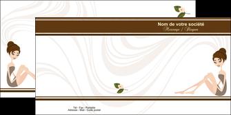 modele en ligne depliant 2 volets  4 pages  institut de beaute beaute esthetique institut de bien etre MLGI20695