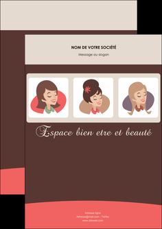 personnaliser modele de flyers institut de beaute beaute femme beaute feminine MLGI20839