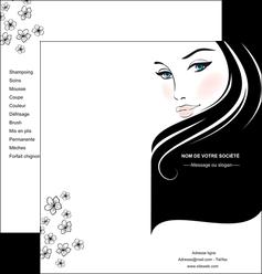 personnaliser modele de depliant 2 volets  4 pages  institut de beaute beaute salon de beaute institut de beaute MLGI20843