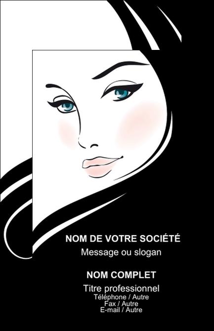 Super Carte De Visite Modele Et Exemple Beaute Salon OA76