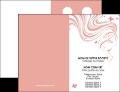 Commander Carte de fidélité Institut de Beauté Carte commerciale de fidélité impression-carte-fidelite Carte de visite Double - Portrait