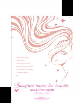 personnaliser modele de flyers institut de beaute coiffure coiffeur coiffeuse MLIG21255