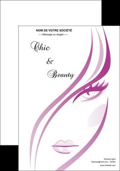 maquette en ligne a personnaliser flyers institut de beaute coiffure coiffeuse salon de coiffure MLGI21313