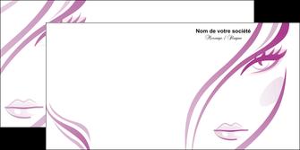 maquette en ligne a personnaliser depliant 2 volets  4 pages  institut de beaute coiffure coiffeuse salon de coiffure MLGI21323